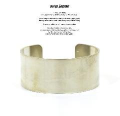 amp japan 16AT-355 German Silver Plain Bangle -Middle-