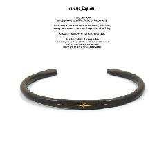 amp japan 16AO-320 Black Brass bangle With Diamond