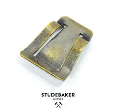 STUDEBAKER METALS MONEY CLIP AMERICAN BRASS/WORK PATINA
