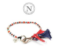 NORTH WORKS D-621 Old Tricolor beads Bracelet