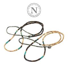 NORTH WORKS D-608 Shell & TQ Heishi Necklace