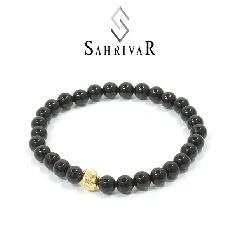 SAHRIVAR SB49B16S Jesus Ball Bracelet / GP
