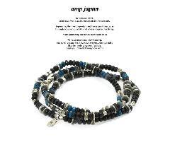 amp japan 16AHK-471BK Color Quartz Bracelet & Necklace - Shadow -