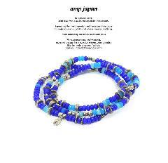 amp japan 16AHK-471BL Color Quartz Bracelet & Necklace - Deep Sea -