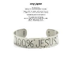 amp japan 16AO-373 100% Jesus Flat Bangle