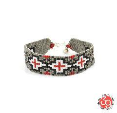 Sunku SK-174 CRG Beads Braid Bracelet