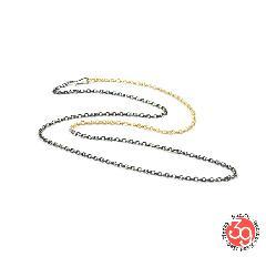 Sunku SK-189 K10&SV Combi Chain Necklace/60cm