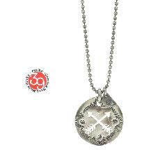 "Sunku SK-095 Cut Plate Necklace ""Cross Arrow"""