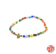 Sunku SK-185 Silver x Beads Anklet