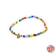 Sunku SK-185 Silver x Beads Anklet