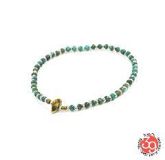 Sunku SK-186 Silver x Beads Anklet