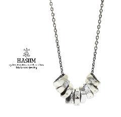 HARIM HRP118SV Rock Beads Chain Necklace