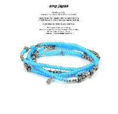 amp japan 16AHK-475BL White Hearts - Sky Blue - Brace & Necklace