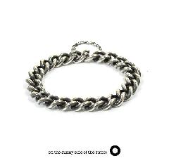 on the sunny side of the street 610-285 Silver Hollow Curblink Chain Bracelet【NEW ITEM】
