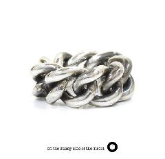 on the sunny side of the street 610-286 Silver Hollow Curblink Chain Ring【NEW ITEM】