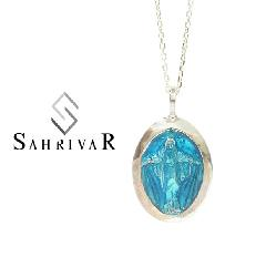 SAHRIVAR SN110S17S Silver Maria Enameled Necklace