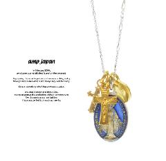 amp japan 16AHK-177 Grand Medaille Miraculeuse Mix Necklace -Blue Epoxy-