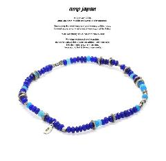 amp japan 17AHK-700BL Color Quartz Anklet -Deep Sea-