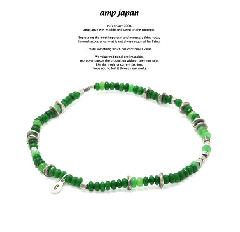 amp japan 17AHK-700GR Color Quartz Anklet -Forest-