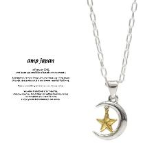 amp japan 17AJK-120 Moon & Star Necklace