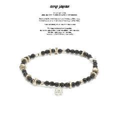 amp japan 17AHK-433 Round Cut Onyx Bracelet & Anklet