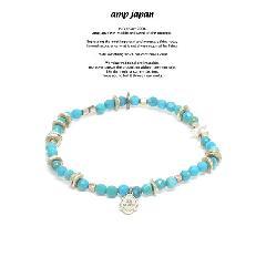 amp japan 17AHK-434 Round Cut Turquoise Bracelet & Anklet