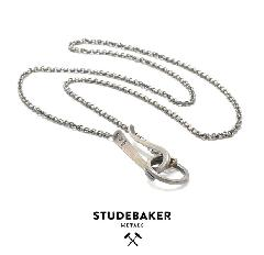 STUDEBAKER METALS LANYARD NECKLACE SILVER