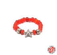 Sunku SK-225/RED STAR BEADS RING