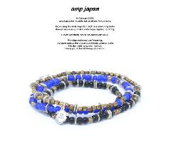 amp japan HYHK-413NV Triple Part Long Beads -Navy-