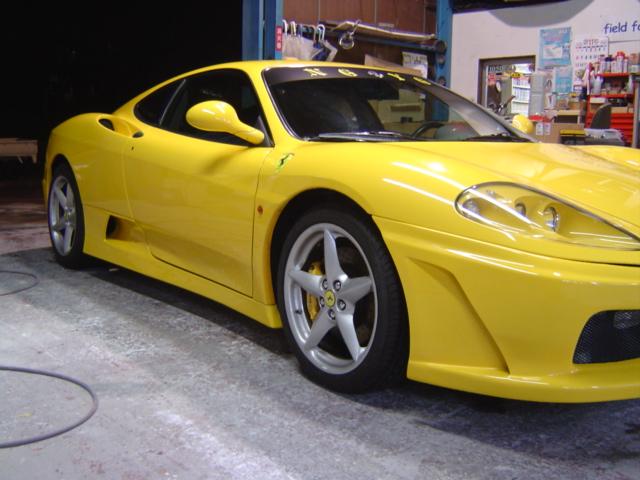フェラーリ 360モデナ エアロ加工・取り付け