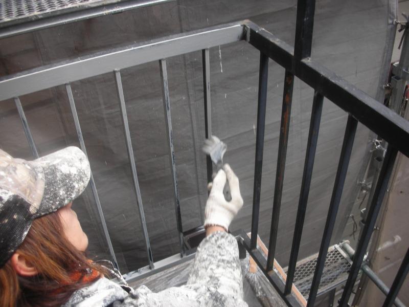 戸建て ベランダフェンス塗装