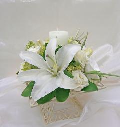 卓上装花       カサブランカ(キャンドル付)