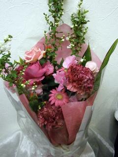 花束  ピンク            B5-1