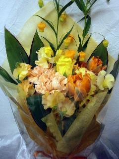 花束  黄・オレンジ         B5-5