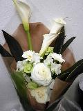 花束  白・グリーン         B5-4