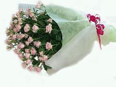 ピンクの枝咲きバラ10本