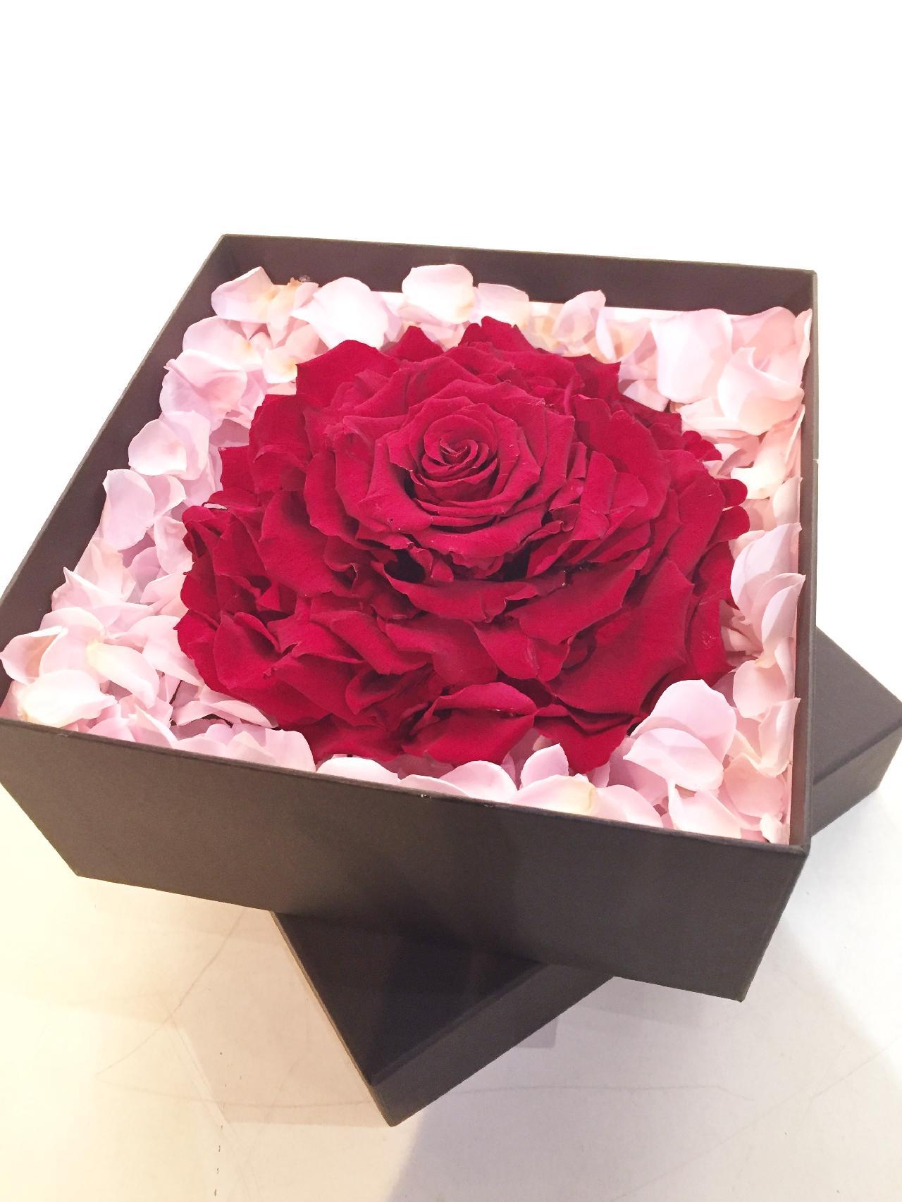 赤バラのフラワーボックス