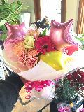バルーン入り花束