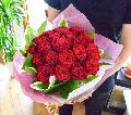 赤バラの花束(ブーケタイプ)