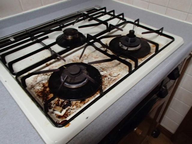 キッチン五徳清掃