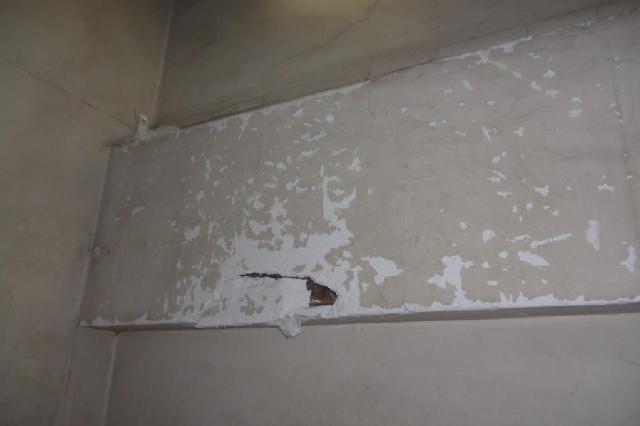 共用階段 壁面破損箇所 修理