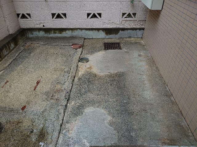 杉並区天沼アパート 建物外回り 床面高圧洗浄