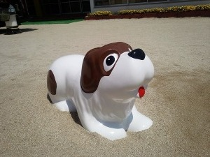 犬の遊具施工後