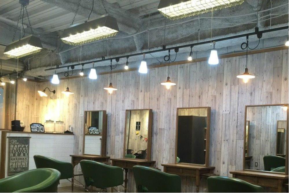 美容室 オシャレ 内装デザイン サロン 改装 リフォーム 可愛い カフェ