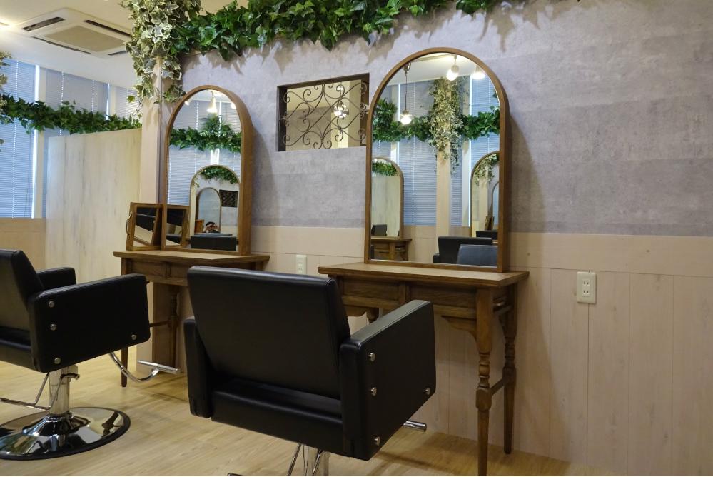 美容室 店舗 内装デザイン リフォーム かわいい オシャレ サロン