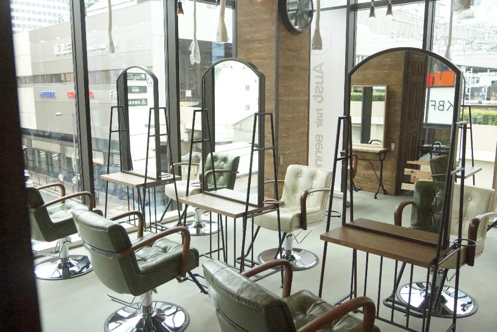 美容室 セット面 サロン 美容室 オシャレ リフォーム 店舗改装 デザイン 内装デザイン 店舗デザイン 店舗リフォーム 店舗 梅田