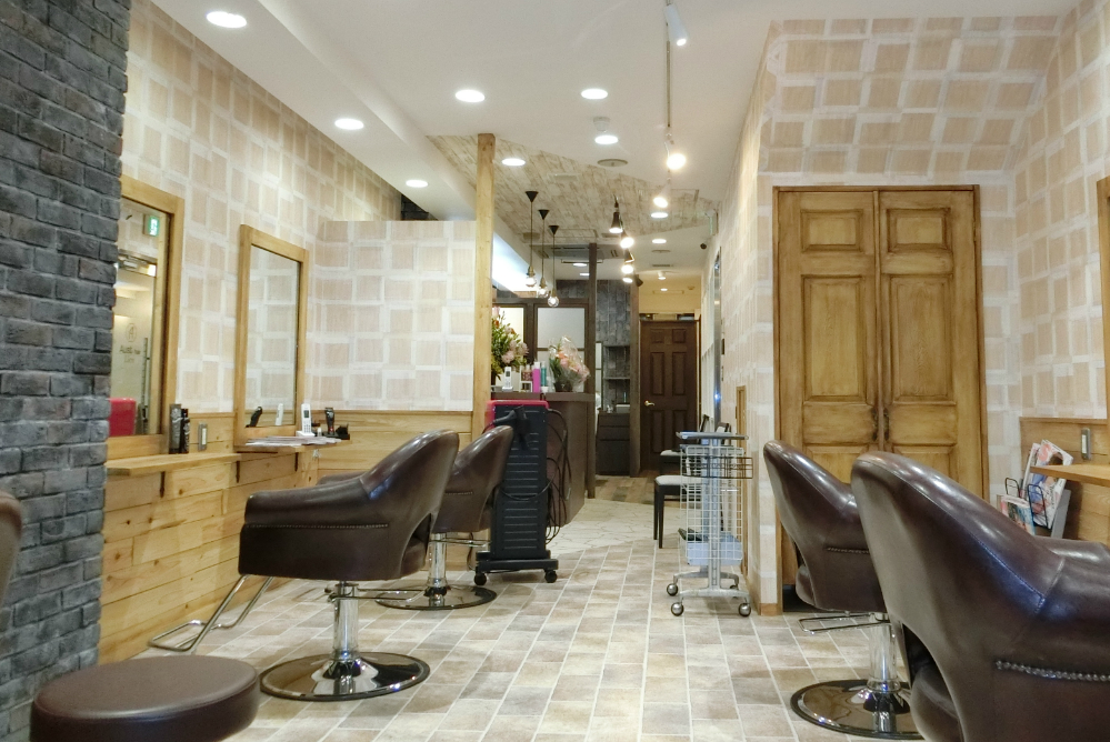 サロン オシャレ 内装 美容室 リフォーム 店舗改装 デザイン 内装デザイン 店舗デザイン 店舗リフォーム