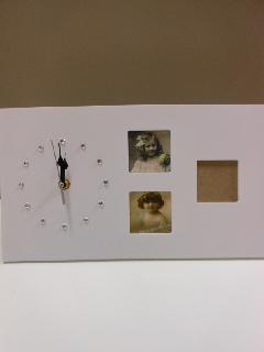 ラインストーン時計付きフレーム