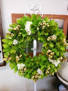 wreath グリーンリーフ&ローズ