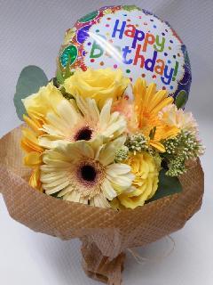 バルーンフラワー花束